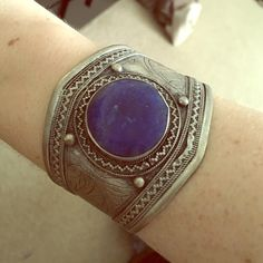 Free People Turkish Cuff Free People Turkish cuff with lapis stone in center. Silver metal cuff. Slightly adjustable. Free People Jewelry Bracelets