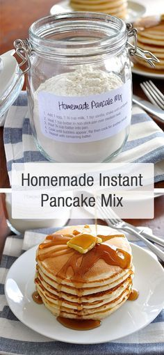 Simple, Fluffy Pancakes Homemade pancake mix, ready to go. Add wet ingredients, shake, then pour into pan. Easy Pancake Mix, Pancakes Easy, Fluffy Pancakes, Pancakes And Waffles, Homade Pancakes Recipe, Pancake Mix Homemade, Pancakes From Scatch, Homemade Pancakes Fluffy, Freeze Pancakes