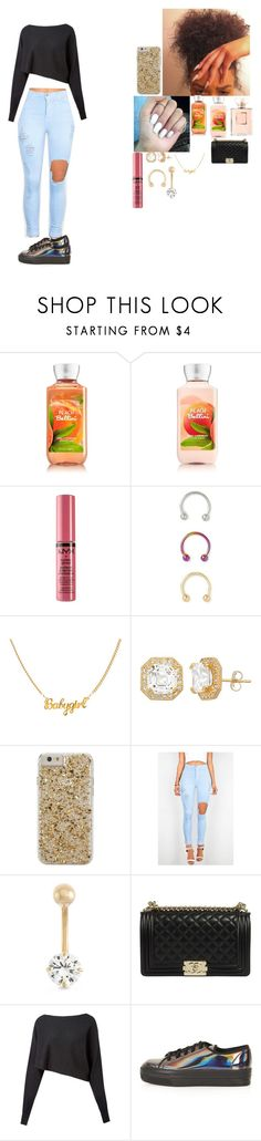 """~ pink + white ~"" by foodislyfe ❤ liked on Polyvore featuring Chanel, NYX, Forever 21, Case-Mate, Gioelli, Crea Concept and Topshop"