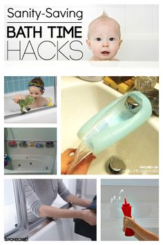 Sanity Saving Bath Time Hacks! Every mom needs these diy tips in her life.