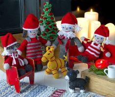 Virka julens härliga tomtefamilj! Gratis virkmönster från Hemmets Veckotidning