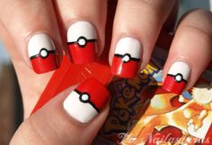 Nerdiest Nails, pokemon, pokeballs, geek, anime, nerd, nail art
