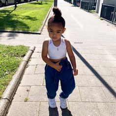 Enjoy the last warm sunny day here in the Netherlands. Because next week it will rain every day Cute Little Girls Outfits, Cute Baby Girl Outfits, Kids Outfits Girls, Toddler Girl Outfits, Fashion Kids, Baby Girl Fashion, Cute Mixed Babies, Cute Black Babies, Mix Baby Girl