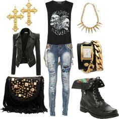 """""""black inspired"""" by milky-silvers on Polyvore"""