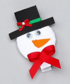 Look at this Bubbly Bows White Snowman Clip on #zulily today!