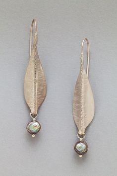 Leaf Drop Earrings by Sher Novak
