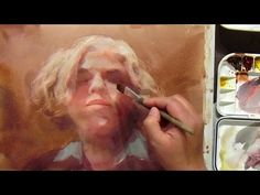 Watercolor portrait workshop - a different painting approach, lesson 2 - YouTube