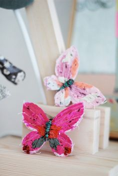 and fabric butterflies - next spring!