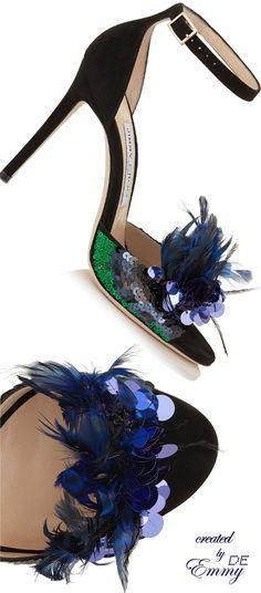 Emmy DE * Jimmy Choo 'Annie' Peeptoe Sandals
