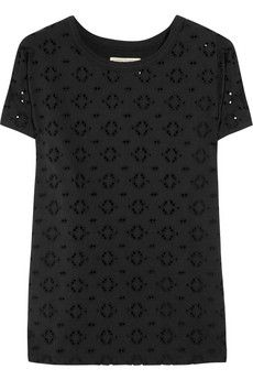 Aubin & Wills  Kentwell broderie anglaise cotton-blend T-shirt  £50