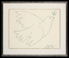 Pablo Picasso | Grande Colombe Bleu | Limited Edition Signed Lithograph | 20 x 18 inches Pablo Picasso, Boudoir, Artist, Lowboy, Parlor Room, Amen, Artists
