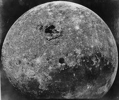 La cara oculta de la Luna en una imagen de 1970 de la sonda soviética Zond 8. ¿A qué no parece la misma?