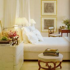 love the fresh white--designer Robert K. Lewis