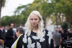Paris FW SS14 Street Style: Sasha Luss - STYLE DU MONDE |  6 Jan '14 Sasha Luss, Russian model, wearing Bohemique top.