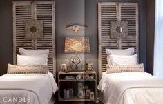 38 Creative DIY Vintage Headboard Ideas for the guest bedroom Home Bedroom, Bedroom Decor, Gray Bedroom, Bedroom Lighting, Bedroom Modern, Bedroom Colors, Bedroom Wall, Bedroom Furniture, Vintage Headboards