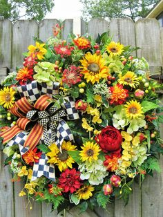 French Country Wreath Spring Wreath Summer by IvySageDesigns