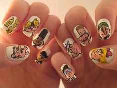 My childhood in nail art.