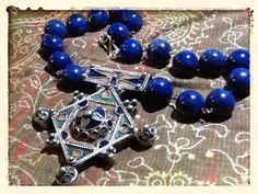 necklace - lapis lazuli beads + traditional #tuareg pendant