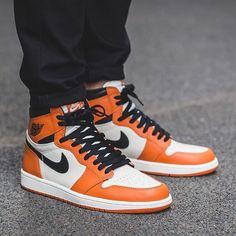 "The Air Jordan 1 High ""Reverse Shattered Backboard"" releases on October 8th. Get full details in Jordan Release Dates on SneakerNews.com. #kickstagram #nike #sneakerfreaker"