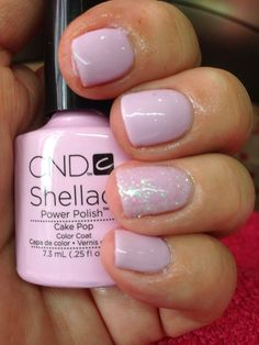 54 Best Ideas for cake pops pink glitter cnd shellac - shellac nails Chellac Nails, Short Nails Shellac, Shellac Nail Colors, Oval Nails, White Shellac Nails, Pink Nail Colors, Shellac Manicure, Nail Polishes, Nail Designs
