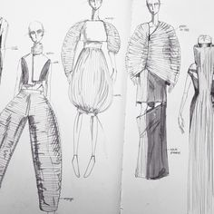 Fashion Sketchbook - fashion design drawings, fashion sketching, creative process // Justus