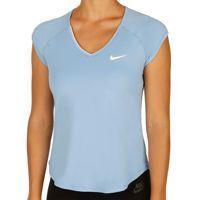 Nike Pure Met Korte Mouwen Dames - Lichtblauw, Wit