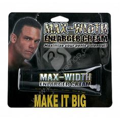 Just rub it on and watch your penis get thicker and harder than ever before! What are you waiting for?  Max Width Enlarger Cream Category: Creams & Gels Name: Max Width Enlarger Cream Model: PSMWEC265 Manufacturer: Pipedream Products  PHP1,000.00   Size may or may not matter, but a thick penis is every man's dream and every partner's desire. Feel like a real man again with this safe, odorless, enlarger cream.  http://www.pleasureshop.com.ph/sextoys/max-width-enlarger-cream.html