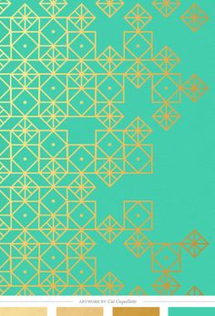 Geometric Turquoise art print by Cat Coquillette; Color Inspiration Daily: 04. 23. 14