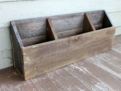 Made to Order Handmade Rustic Country Reclaimed Wooden Wood Pallet Boards Mail Letter Magazine Storage Box Container Sorter Organizer Holder Projects Ideas
