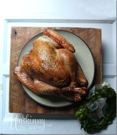 How to Make a Perfect Smoked Turkey on a Big Green Egg - saving this recipe for Thanksgiving dinner!