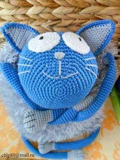Озорной кот крючком. Котоподушка-игрушка. Описание вязания