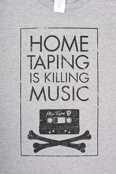 "Es lebe das Vinyl – T-Shirt ""Hometaping is killing Music"" auf www.kontaktstoff.de"