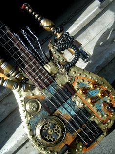 "Guitar designer Molly Friedrich, aka Porkshanks, has designed many a guitar in her life, but this commissioned bass for Benjamin Ensor of the band Mungus was a particular pleasure. She says: ""He asked me to create a Jules Verne-inspired clockwork Lovecraftian beast… and other than that for a theme, he gave me permission to do whatever I wanted… so here it is, 16-inch tentacles and all!"""