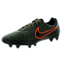 Upgrade your footwear with these Nike Men's Magista Orden Fg Black/Black/Rgh G/ Crmsn Soccer Cleat. Made from leather, synthetic, these soccer shoes are available in black. Details: Black Fits true to