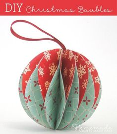 DIY Paper Christmas Ornaments - Tutorial / Homemade Gifts Made Easy