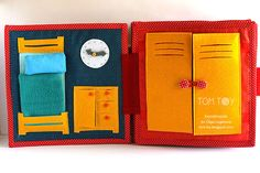 Handmade quiet book for Diezel, fire station themed busy book