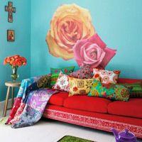the Frida Kahlo inspired livingroom Decor Interior Design, Interior Decorating, Tomie Ohtake, Living Room Decor, Bedroom Decor, Red Sofa, Red Couches, Dark Interiors, Bohemian Decor