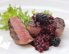 Beef with Blackberry Bourbon Sauce - Creative Home Cooking with Theresa Visintin – Cooking simple, delicious and creative food . Easy recipes for the home cook. Masterchef Australia 2016 Contestant and Host on Canada& food channel, Gusto TV. Beef Recipes, Easy Recipes, Recipies, Bourbon Sauce, Masterchef Australia, Tv Chefs, Perfect Steak, Creative Food, Easy Cooking