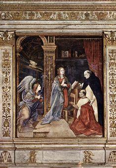 Fra Filippo Lippi. Annunciation (1489-91). Fresco. Santa Maria sopra Minerva, Rome