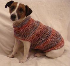 Perfect in Pastels  Dog Jumper by CrotchetyCraft on Etsy, £13.00