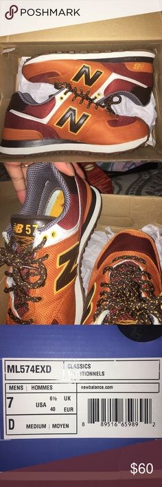 Men's New Balance 🍂 MENS 7 worn a few times , nice fall colors and VERY comfortable 👌🏾 nothing wrong with them New Balance Shoes Sneakers