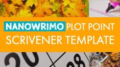 NaNoWriMo Plot Point Scrivener Template - The Manuscript Shredder - Royce Cobbald Fiction Writing, Writing A Book, Writing Tips, Scrivener Templates, National Novel Writing Month, Writing Software, Screenwriting, Worksheets, Novels