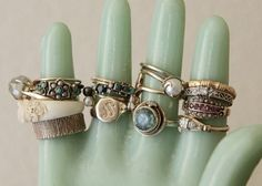 Vintage rings are so much more unique than most rings you see in a jeweler's case these days.