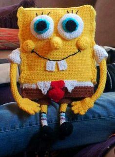 Finally finished my amigurumi Spongebob.  I got the pattern here: http://www.ravelry.com/patterns/library/holy-spongebob