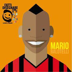 #Illustrazione #Vettoriale #Mario #Balotelli #Calcio #Soccer #Milan #Football #GiuseppeLombardi #fattidisegnare #Digital #Graphic #Art #Caserta #Campania #CE #Napoli #Milano