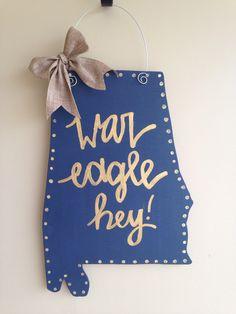 Auburn University Door Hanger by MinnieLynne on Etsy https://www.etsy.com/listing/230999165/auburn-university-door-hanger