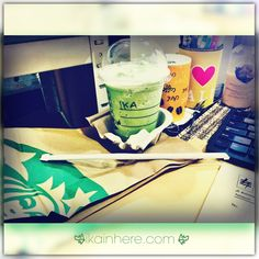 Summer in your country? Don't worry, Starbucks has many promo this month! This Tall Green Tea Latte Blended got free by filling customer feedback test on their official website. Yeah you can get free one tall any beverages as your choice (except juice and bottle). Thank you @Starbucks and @starbucksindonesia I'm having you in office right now!  Have a venti day! #starbucks #greentea #greentealatte #latteblended #latte #matchalatte #matcha #matchablanded #matchaice #starbucksindonesia #coffee
