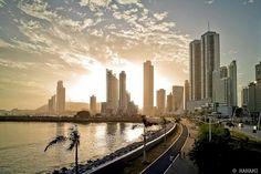 Cinta Costera and the Panama City skyline