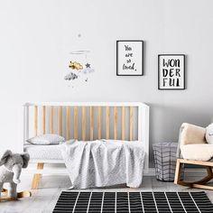 Monochrome chambre de bébé