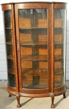 64 best bow front oak china cabinets images china cabinets oak rh pinterest com